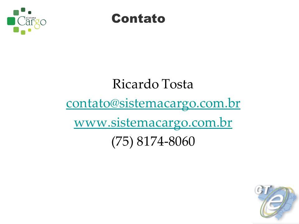 Ricardo Tosta contato@sistemacargo.com.br www.sistemacargo.com.br