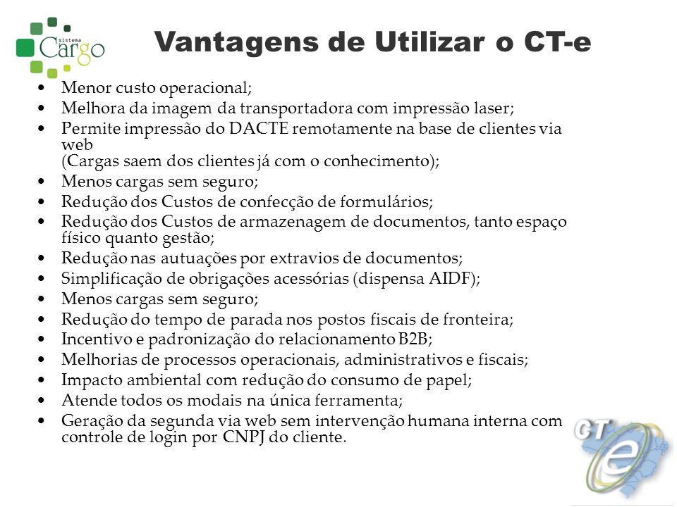Vantagens de Utilizar o CT-e