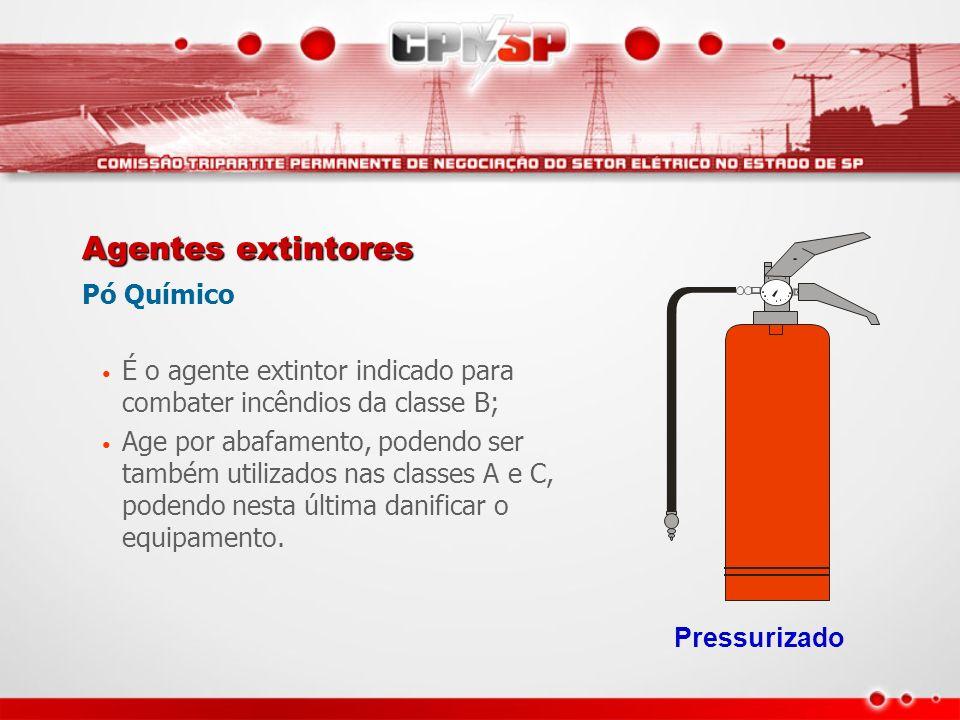 Agentes extintores Pó Químico