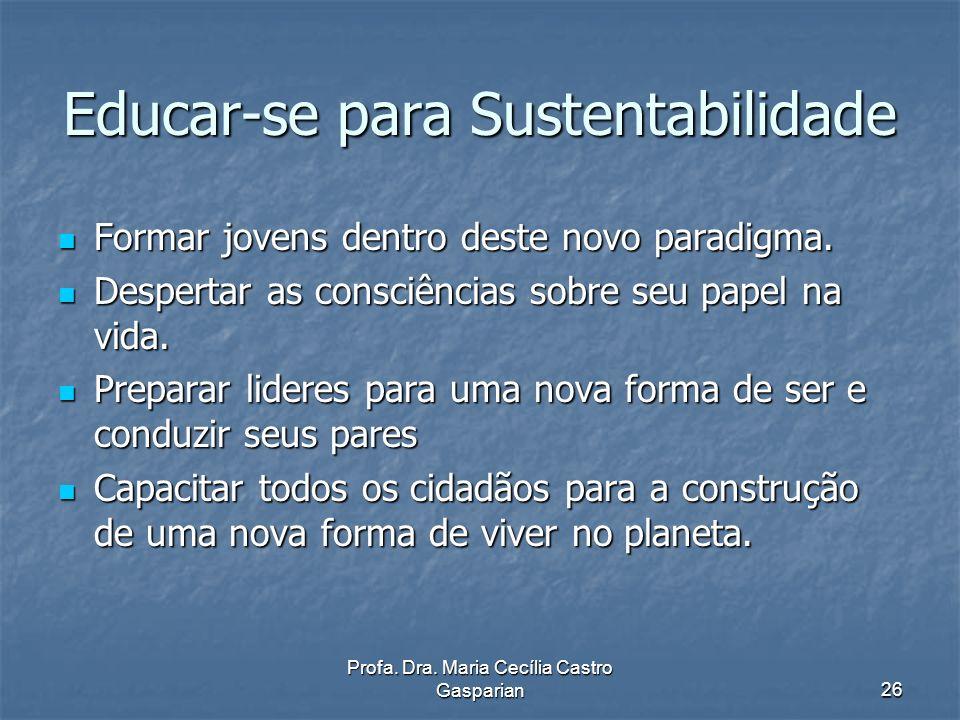 Educar-se para Sustentabilidade