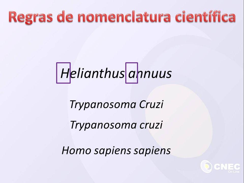 Regras de nomenclatura científica
