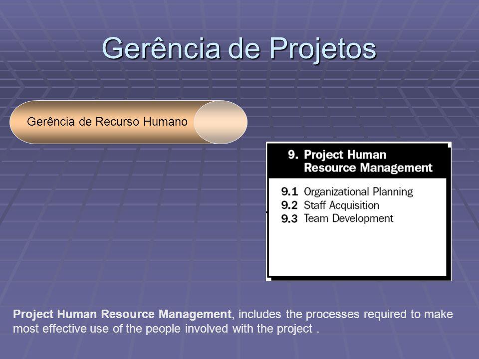 Gerência de Projetos Gerência de Recurso Humano