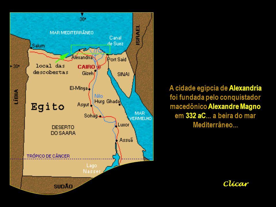 A cidade egípcia de Alexandria foi fundada pelo conquistador