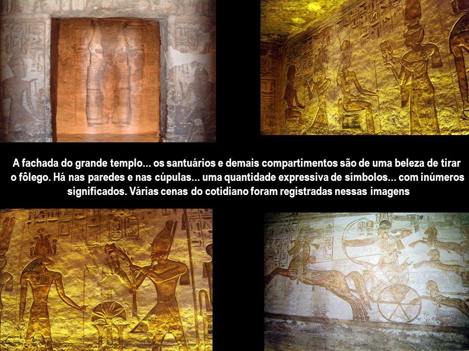A fachada do grande templo