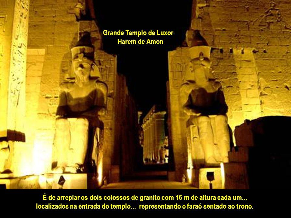 Grande Templo de Luxor Harem de Amon. É de arrepiar os dois colossos de granito com 16 m de altura cada um...