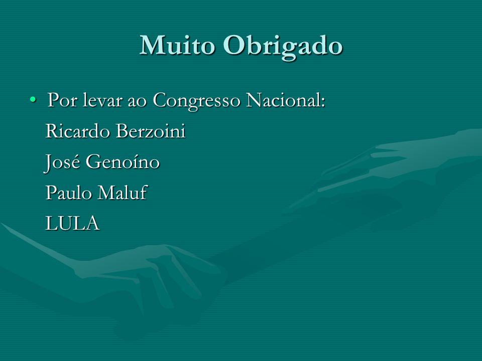 Muito Obrigado Por levar ao Congresso Nacional: Ricardo Berzoini