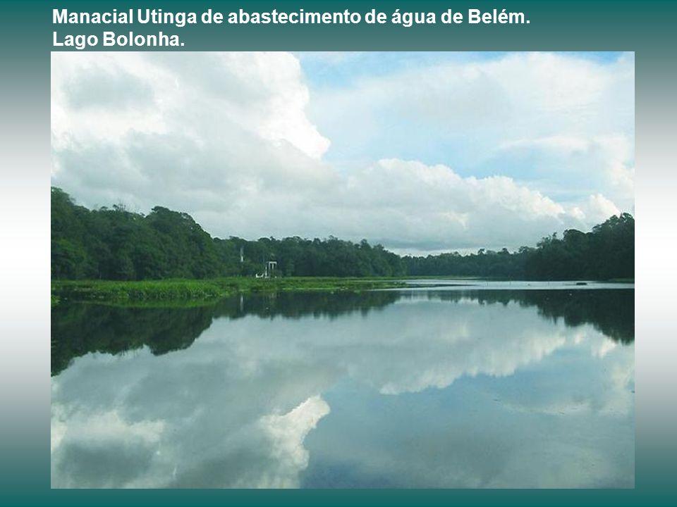 Manacial Utinga de abastecimento de água de Belém. Lago Bolonha.