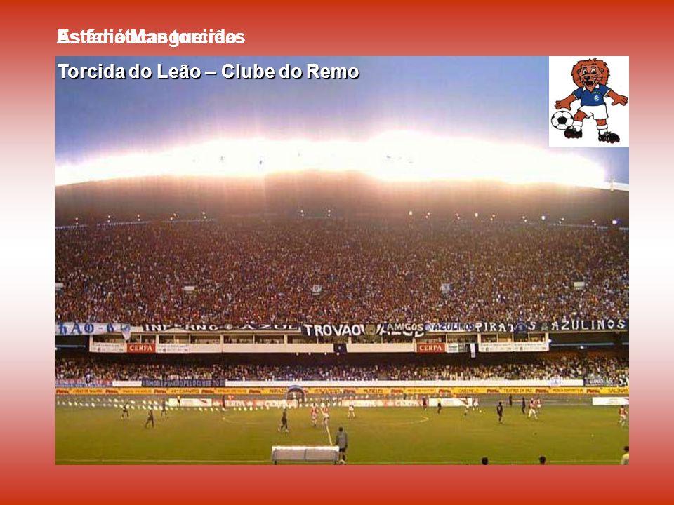 Estádio Mangueirão. As fanáticas torcidas. Torcida do Leão – Clube do Remo. Torcida do Papão - Paysandu.