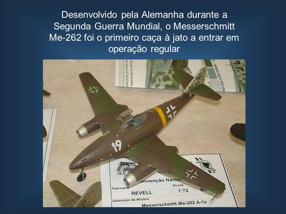 Desenvolvido pela Alemanha durante a Segunda Guerra Mundial, o Messerschmitt Me-262 foi o primeiro caça à jato a entrar em operação regular