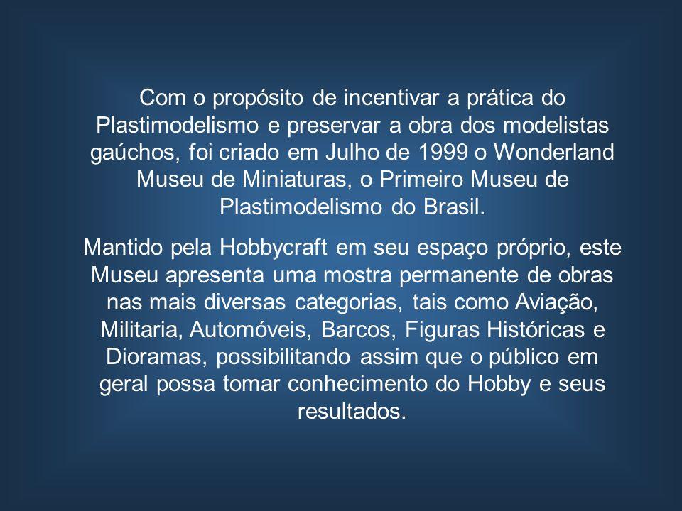 Com o propósito de incentivar a prática do Plastimodelismo e preservar a obra dos modelistas gaúchos, foi criado em Julho de 1999 o Wonderland Museu de Miniaturas, o Primeiro Museu de Plastimodelismo do Brasil.