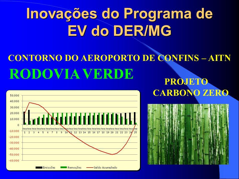 Inovações do Programa de EV do DER/MG