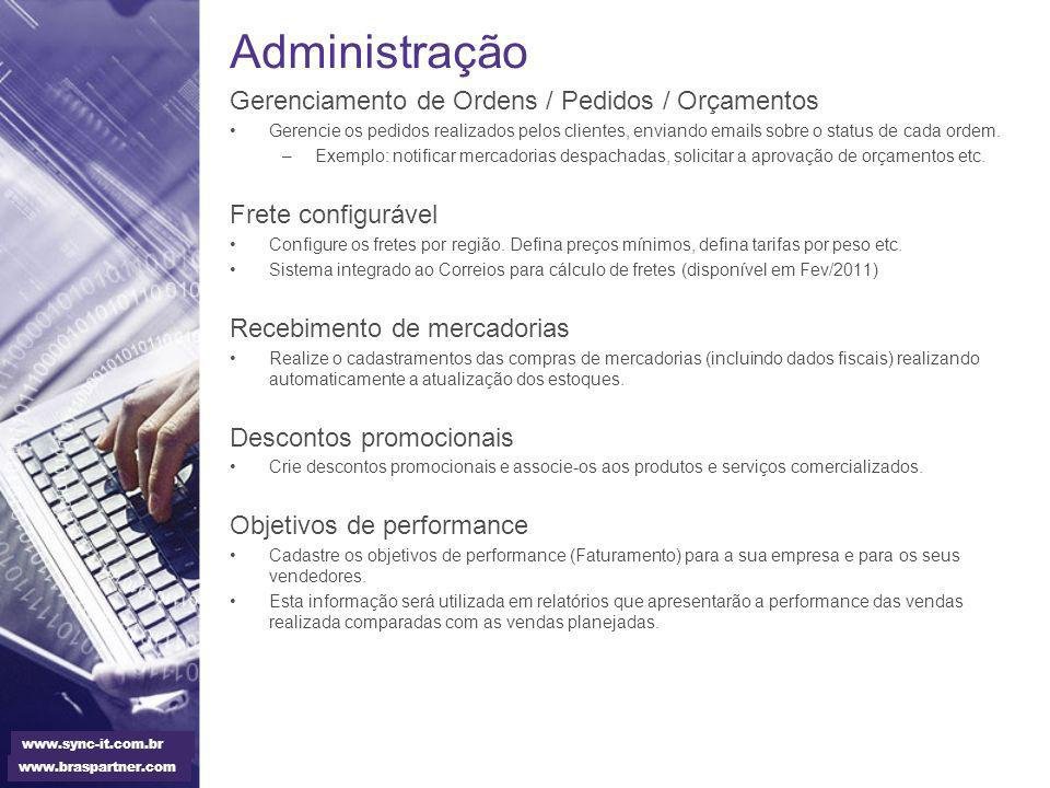 Administração Gerenciamento de Ordens / Pedidos / Orçamentos