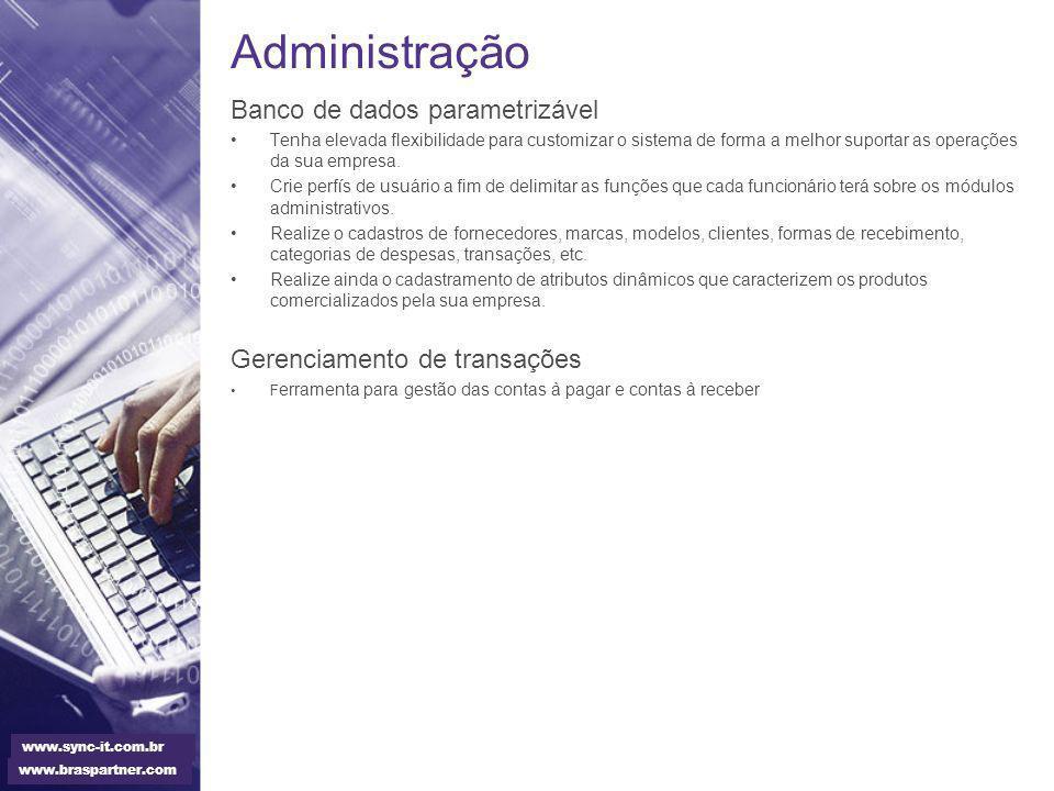Administração Banco de dados parametrizável