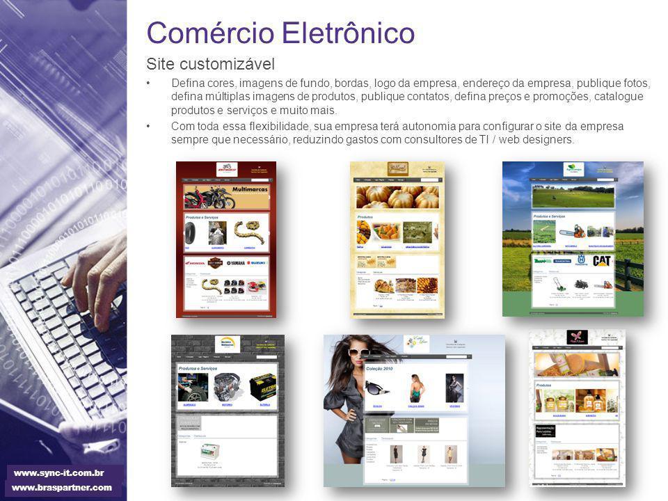 Comércio Eletrônico Site customizável