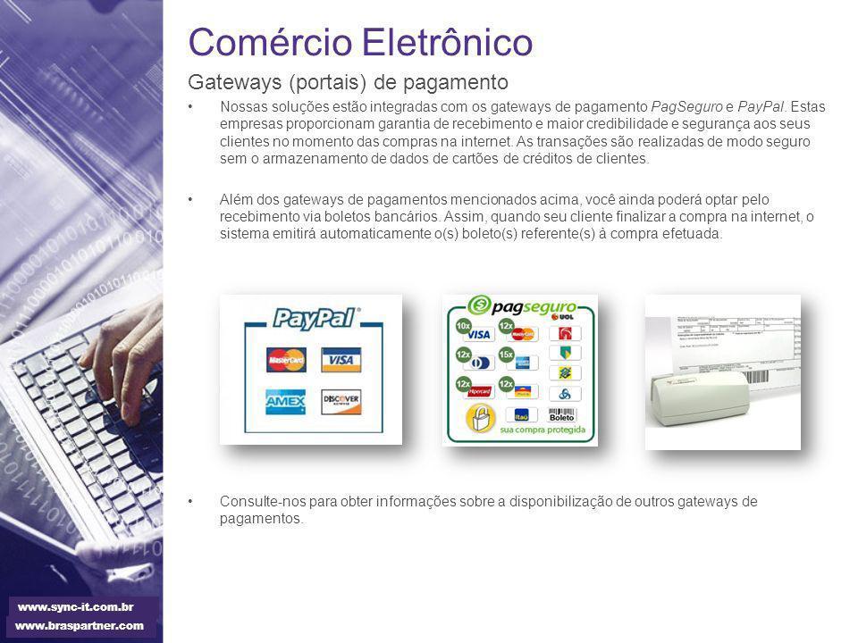 Comércio Eletrônico Gateways (portais) de pagamento