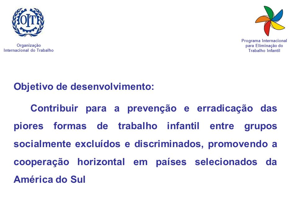 Objetivo de desenvolvimento: