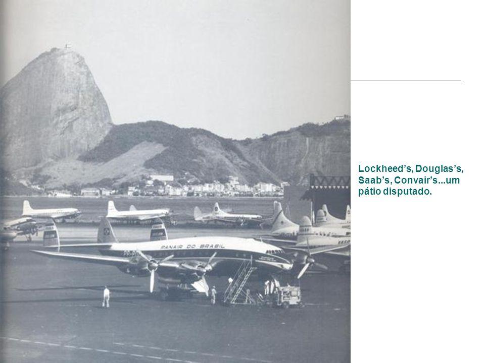 Lockheed's, Douglas's, Saab's, Convair's...um pátio disputado.