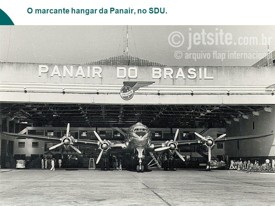 O marcante hangar da Panair, no SDU.