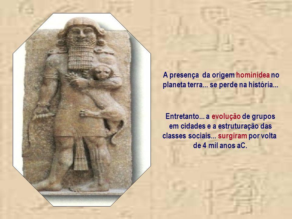 A presença da origem hominídea no