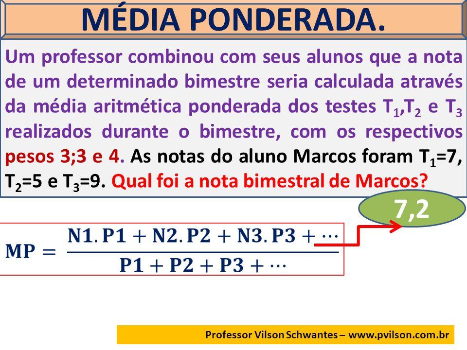 MÉDIA PONDERADA.