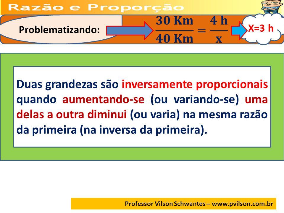 X=3 h. Problematizando: