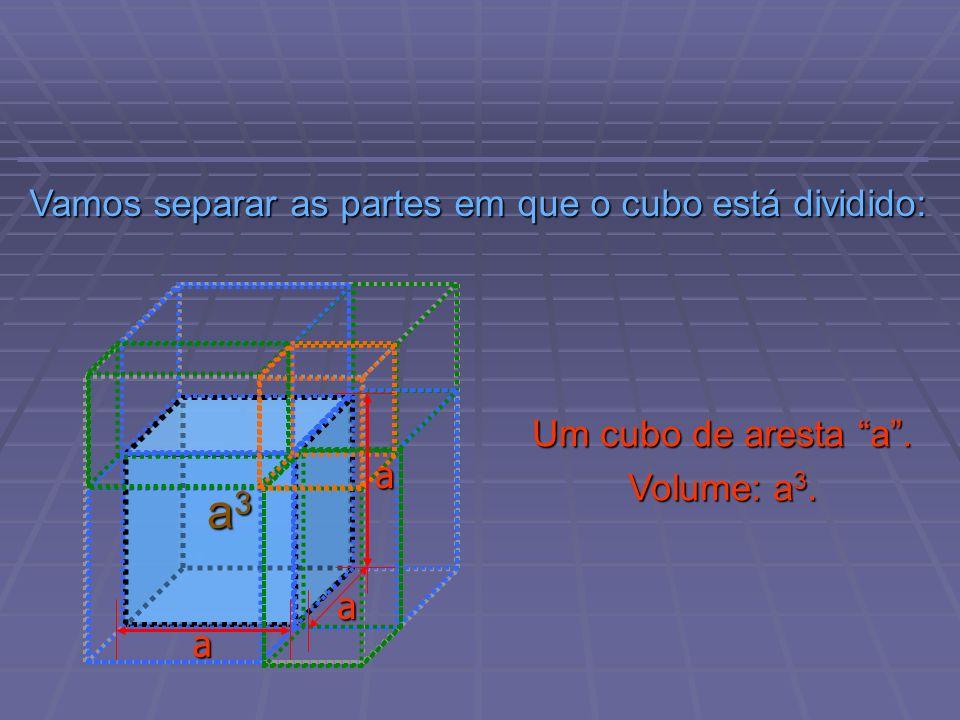 Vamos separar as partes em que o cubo está dividido: