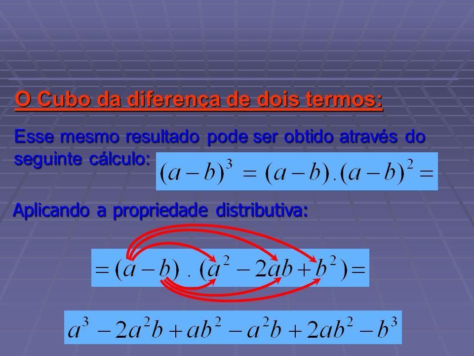 O Cubo da diferença de dois termos: