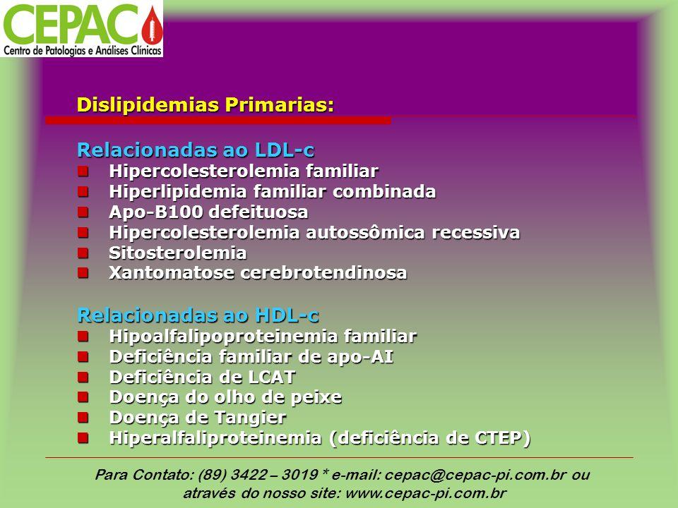 Dislipidemias Primarias: Relacionadas ao LDL-c