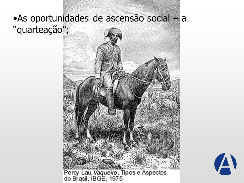 As oportunidades de ascensão social – a quarteação ;