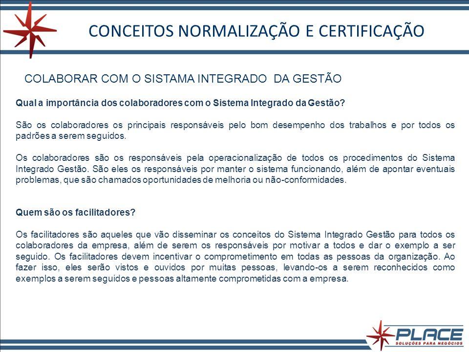 CONCEITOS NORMALIZAÇÃO E CERTIFICAÇÃO