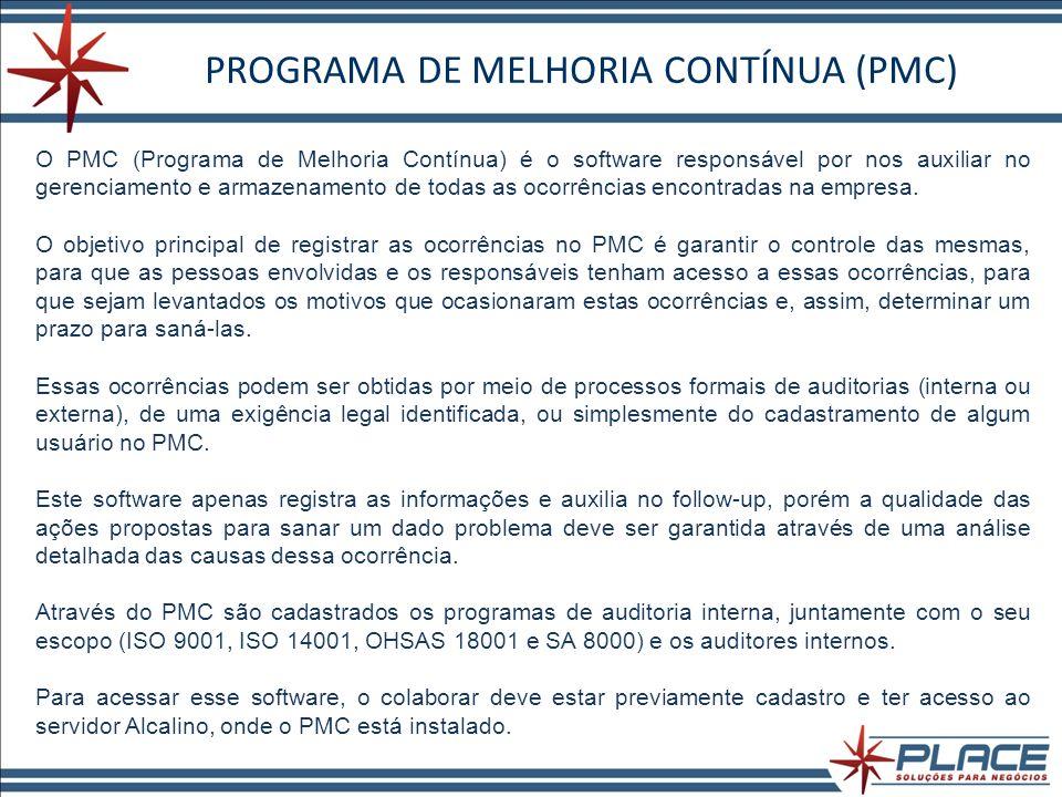 PROGRAMA DE MELHORIA CONTÍNUA (PMC)