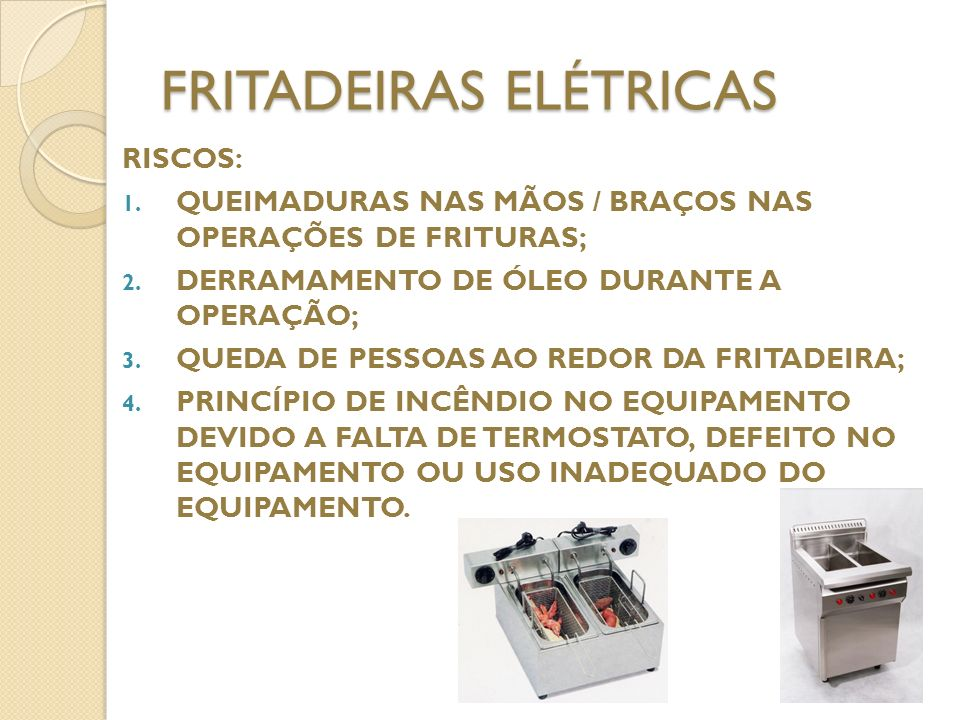 FRITADEIRAS ELÉTRICAS