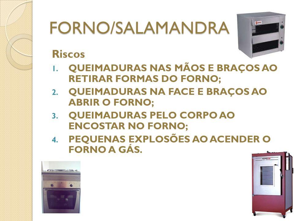 FORNO/SALAMANDRA Riscos