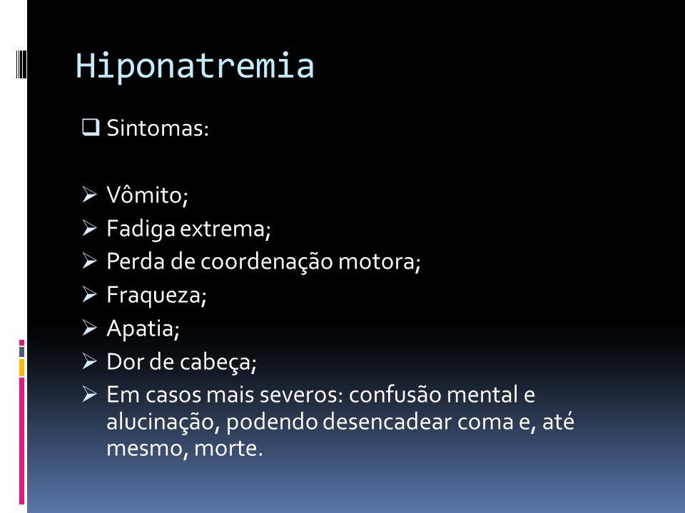 Hiponatremia Sintomas: Vômito; Fadiga extrema;