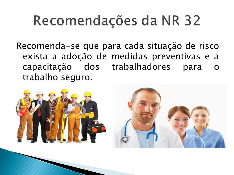 Recomendações da NR 32