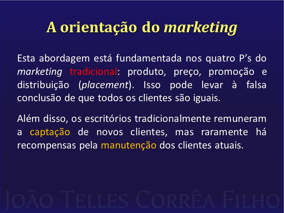A orientação do marketing