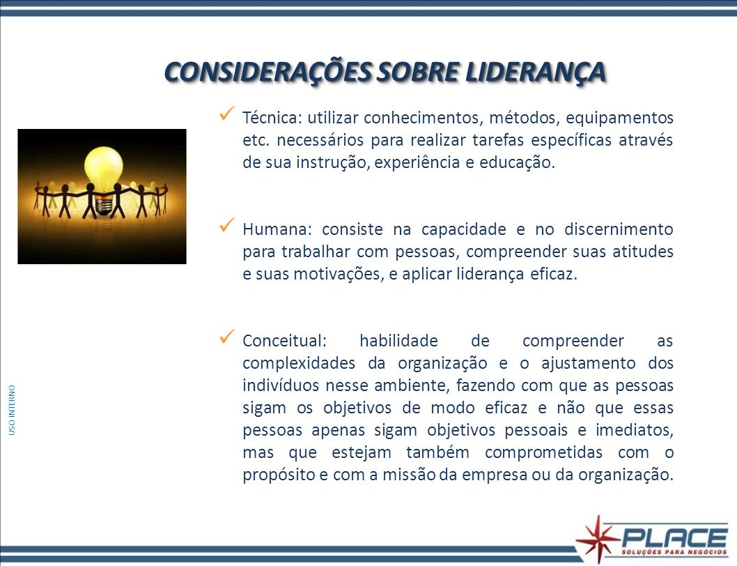 CONSIDERAÇÕES SOBRE LIDERANÇA