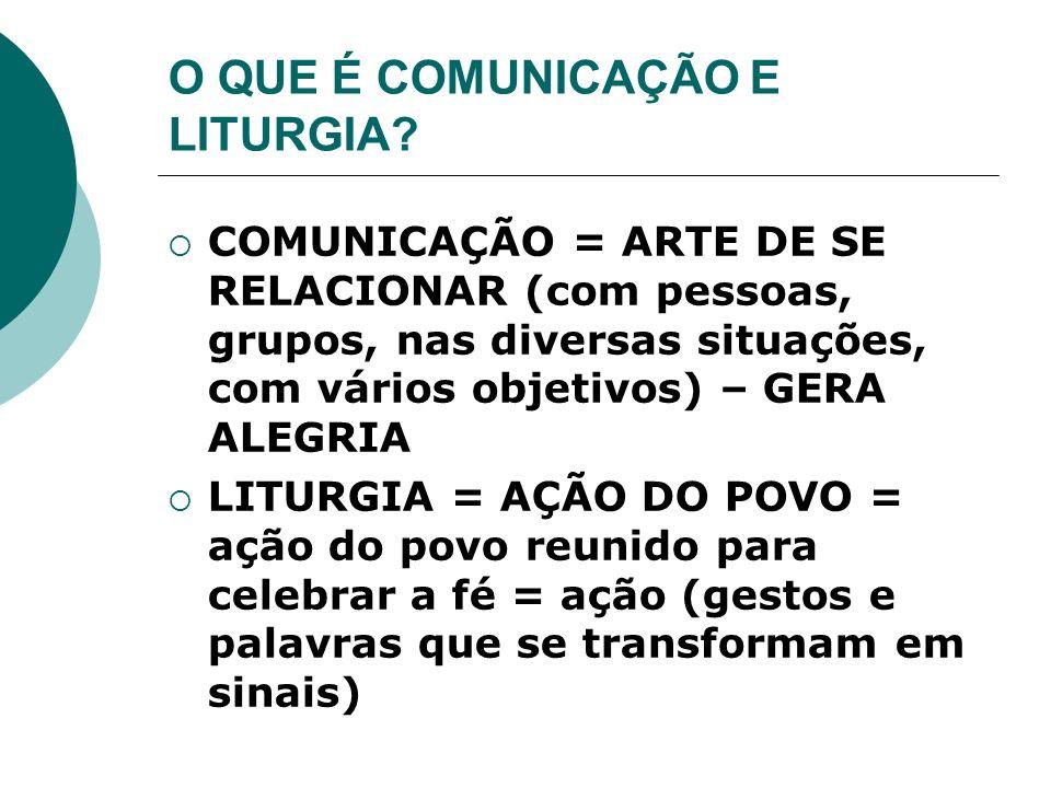 O QUE É COMUNICAÇÃO E LITURGIA