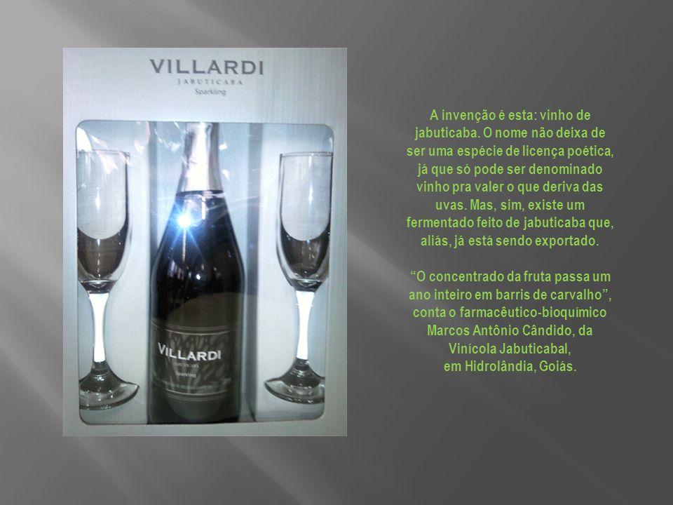 A invenção é esta: vinho de jabuticaba