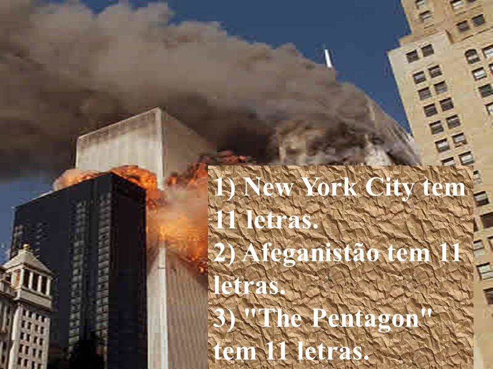 1) New York City tem 11 letras.