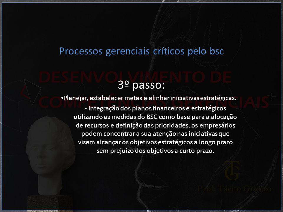 3º passo: Processos gerenciais críticos pelo bsc