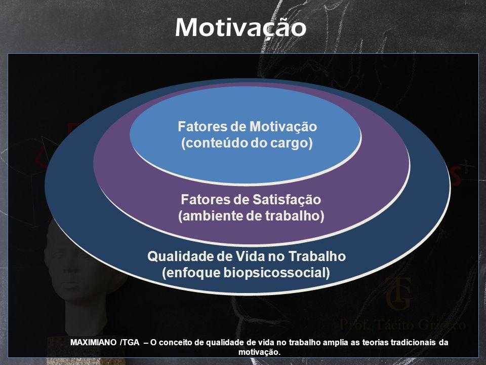Motivação Fatores de Motivação (conteúdo do cargo)