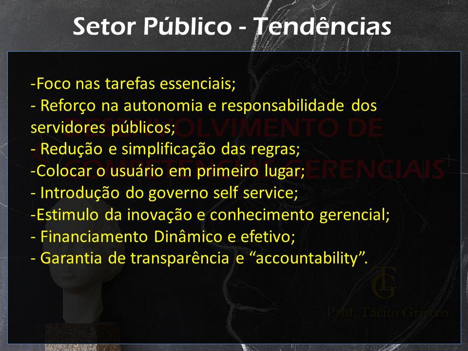 Setor Público - Tendências