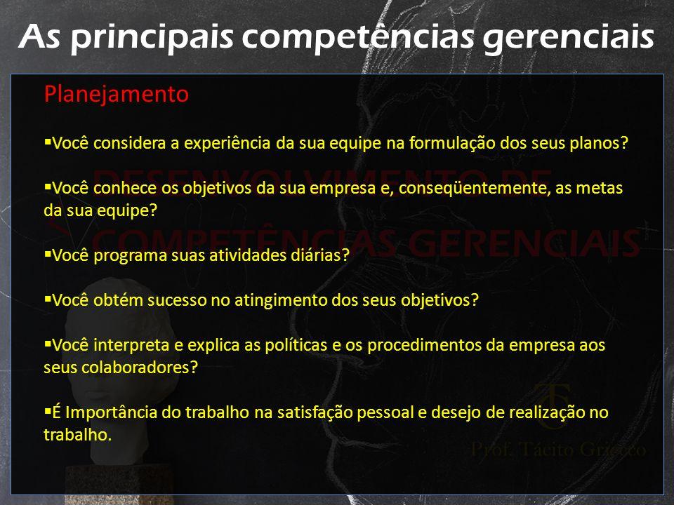 As principais competências gerenciais