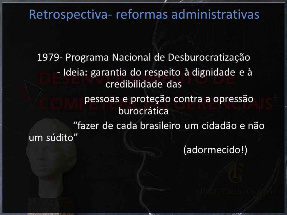 Retrospectiva- reformas administrativas