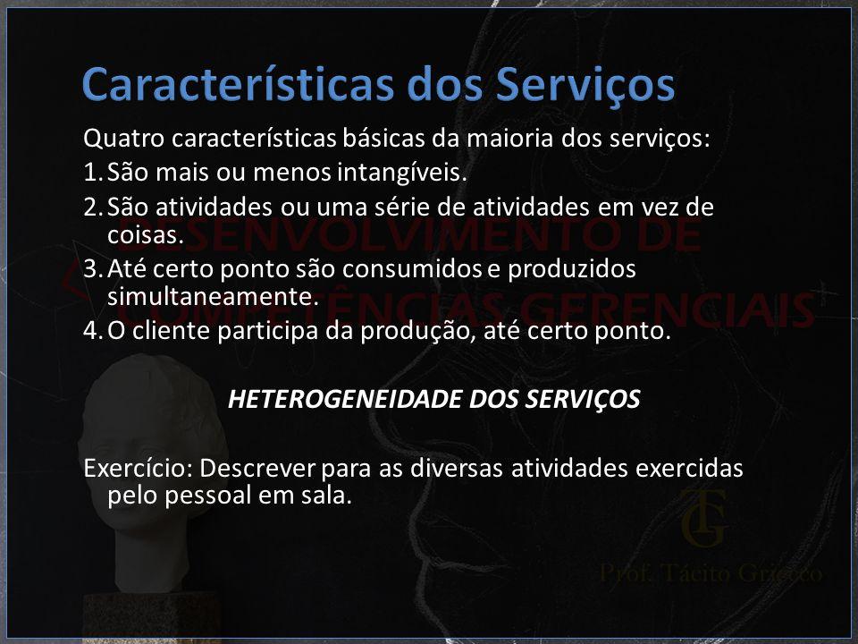 HETEROGENEIDADE DOS SERVIÇOS