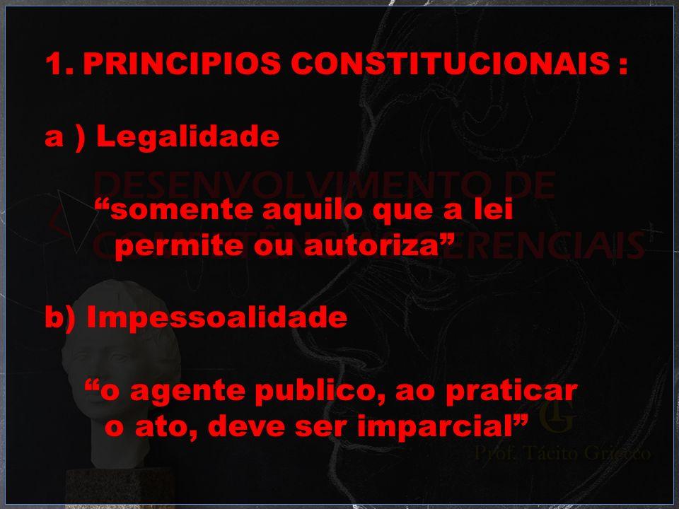 PRINCIPIOS CONSTITUCIONAIS :
