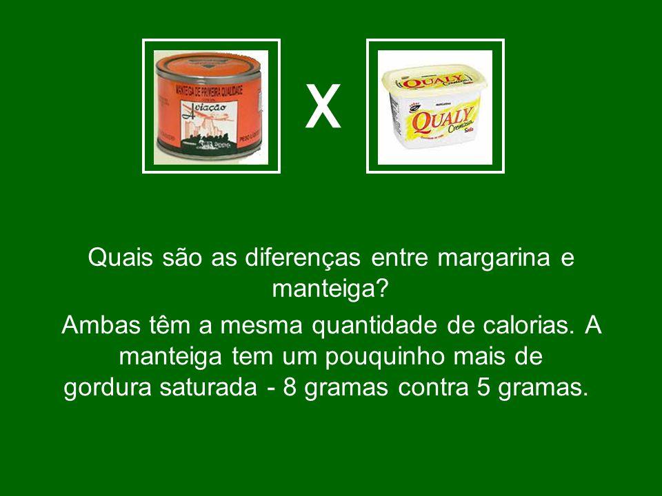 Quais são as diferenças entre margarina e manteiga