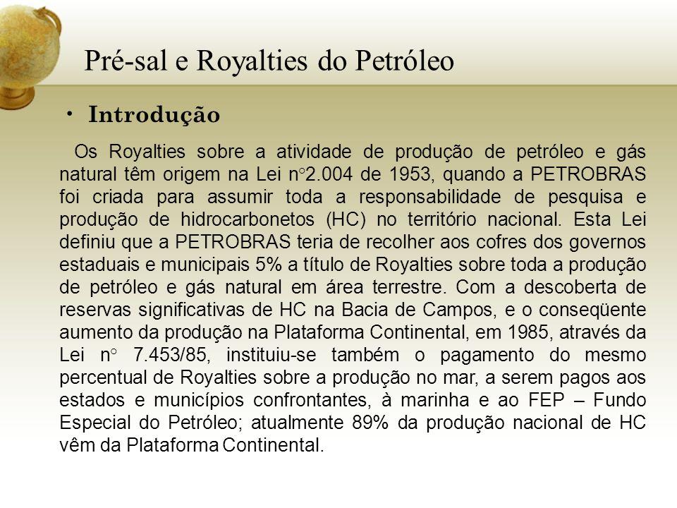 Pré-sal e Royalties do Petróleo