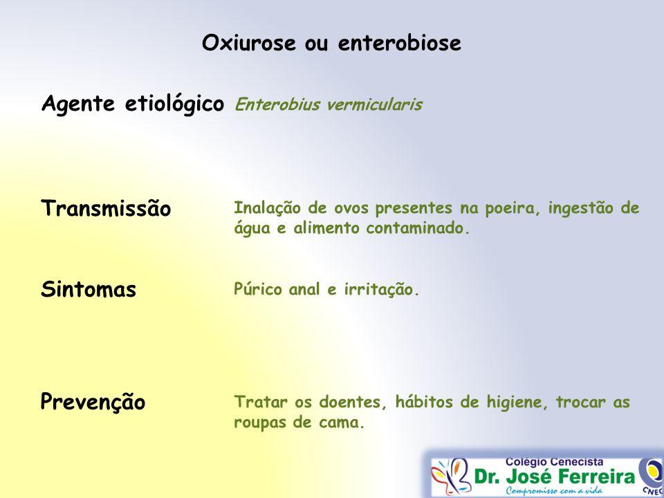 Oxiurose ou enterobiose